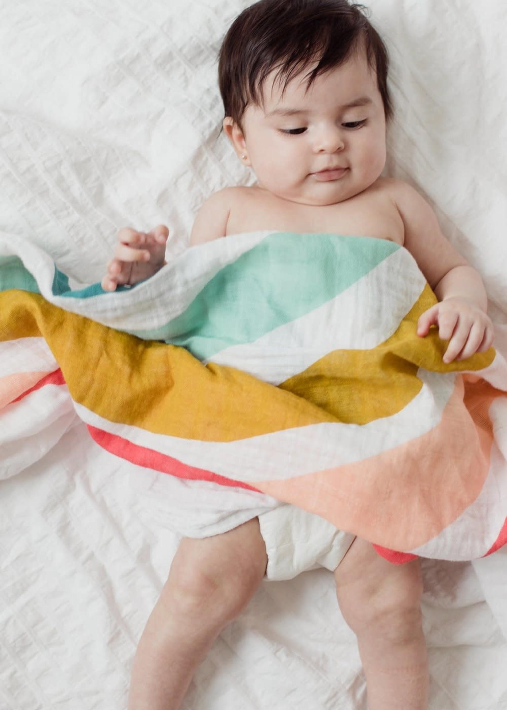 Clementine Kids Rainbow Baby Swaddle
