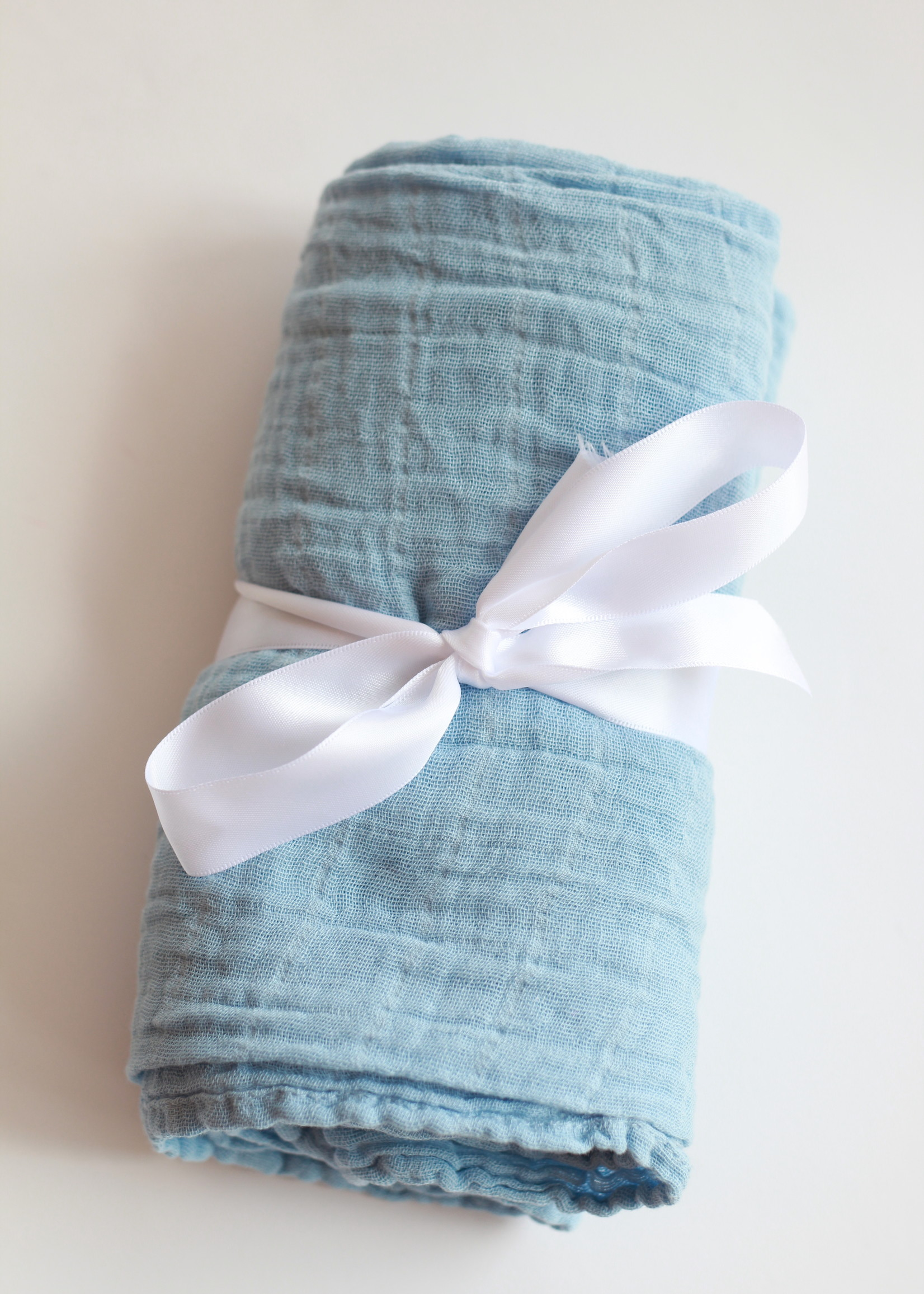 Bebe Au Lait Cornflower Classic Muslin Swaddle Blanket