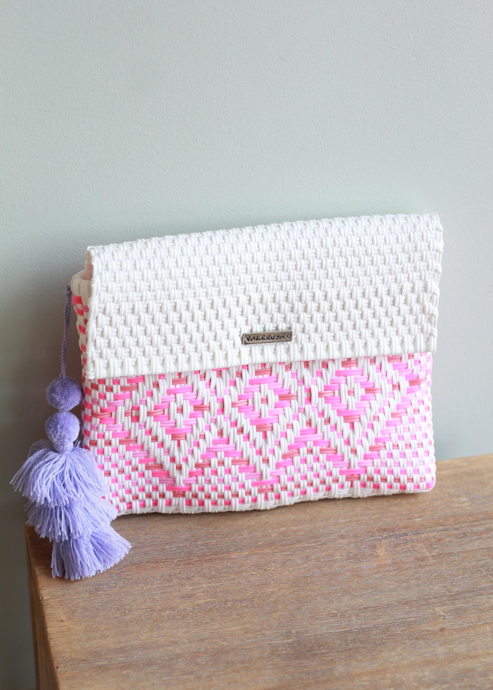 Valerosa Boutique Valerosa Pinky Clutch With Lavender Tassel
