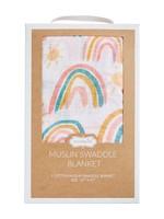 Mud Pie Rainbow Muslin Swaddle