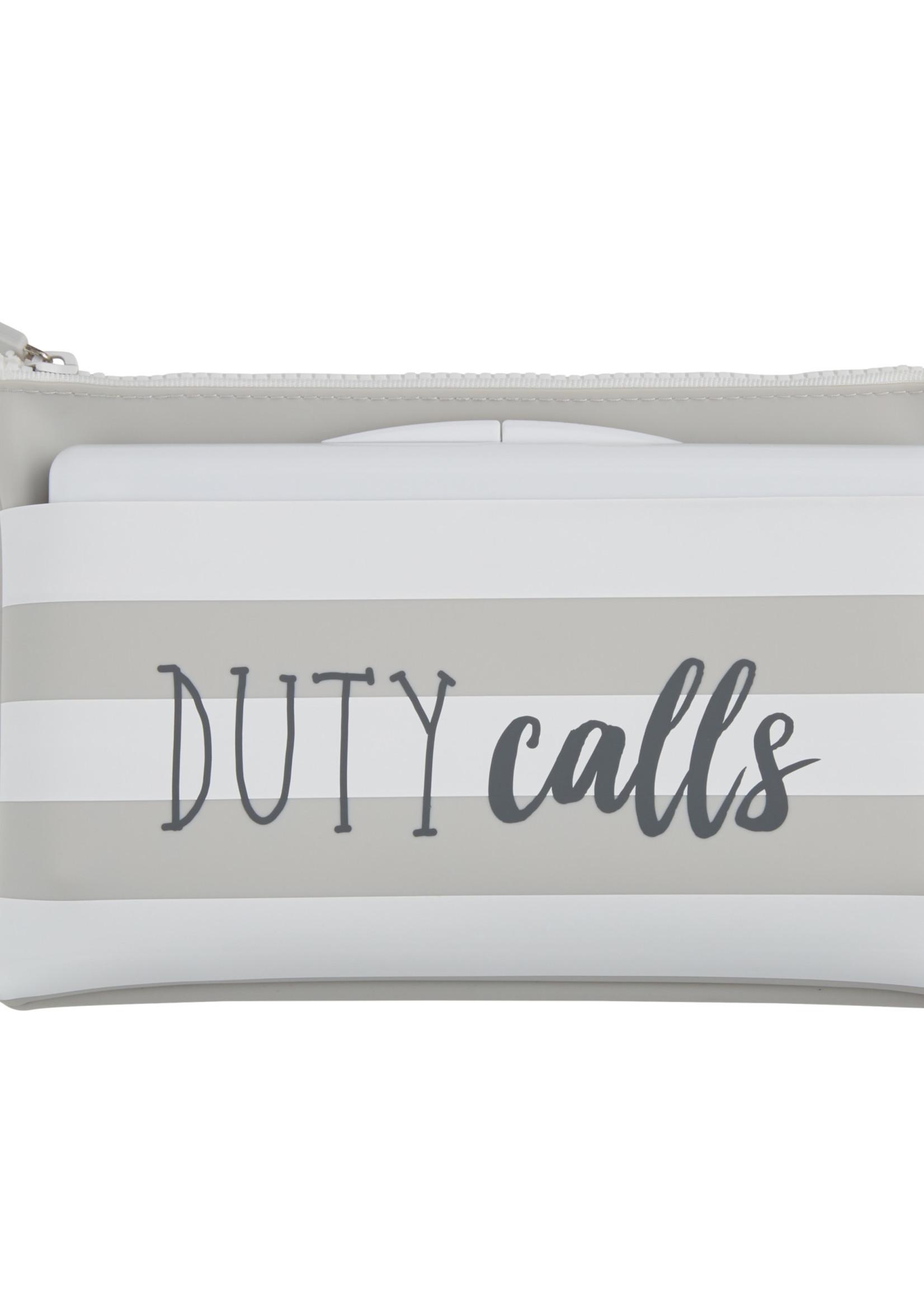 Duty Calls Grey Wipe Bag