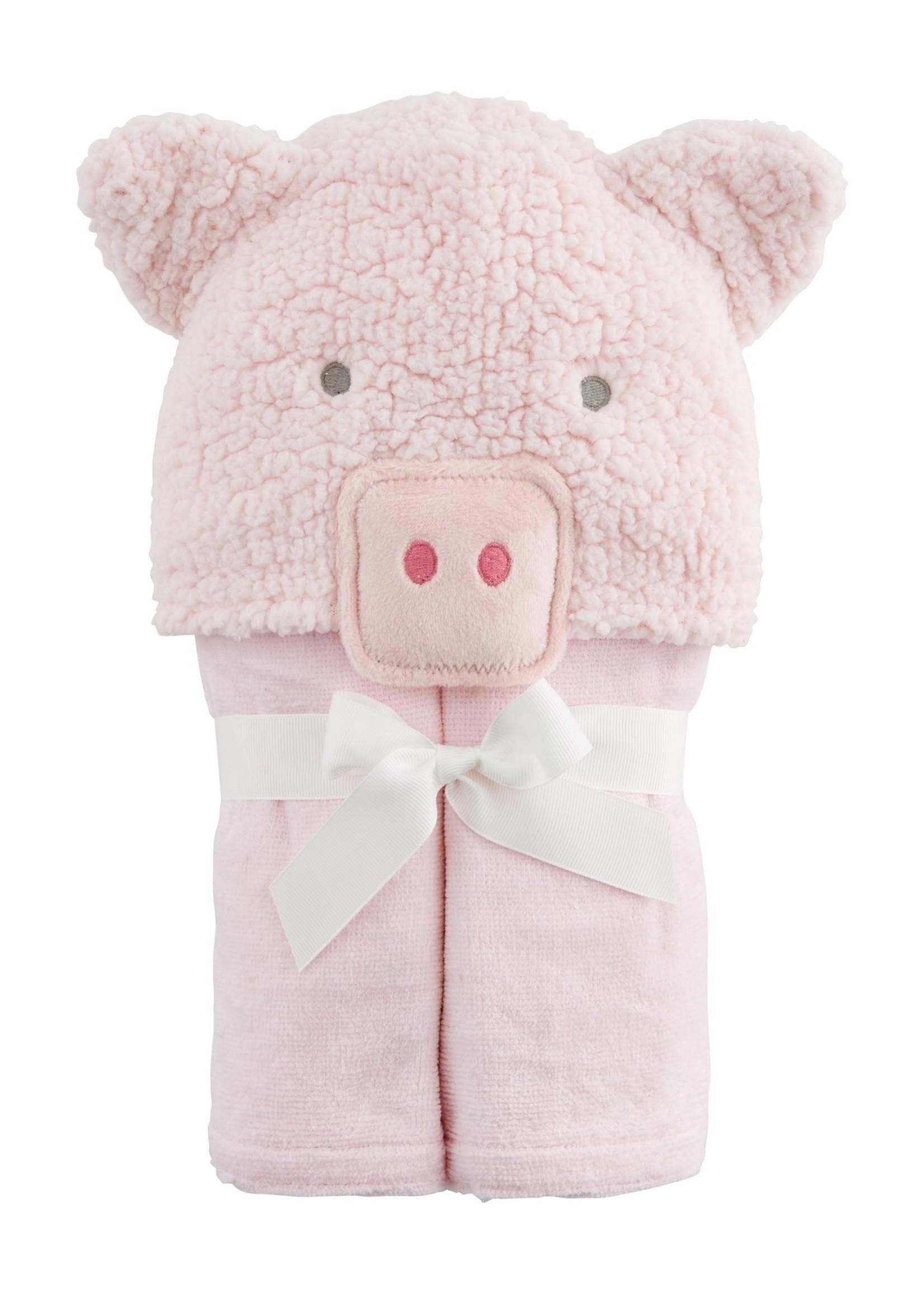 Pig Baby Hooded Towel