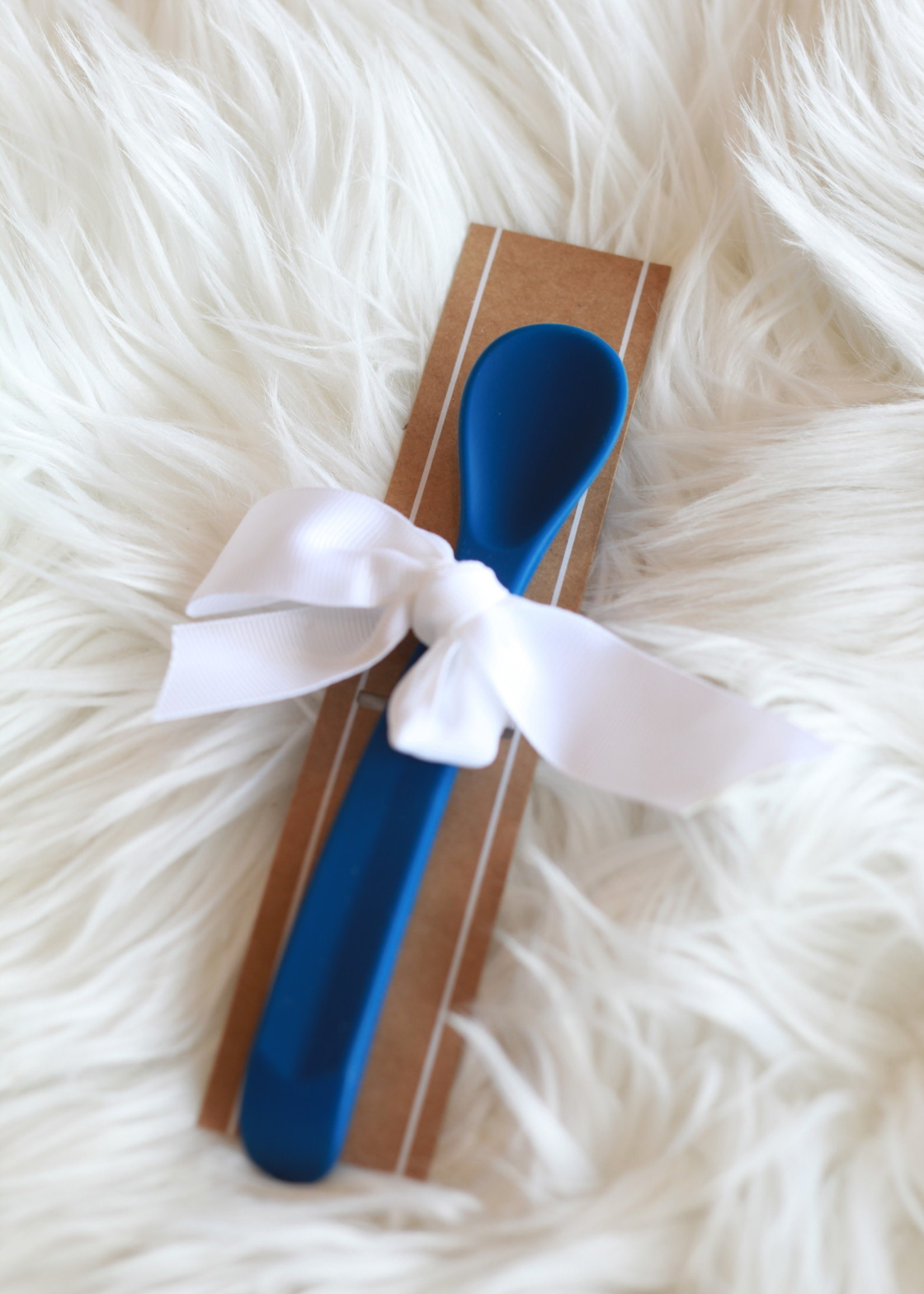 Blue Silicone Baby Spoon