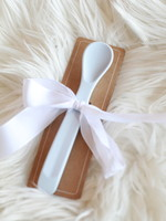 Light Blue Silicone Baby Spoon