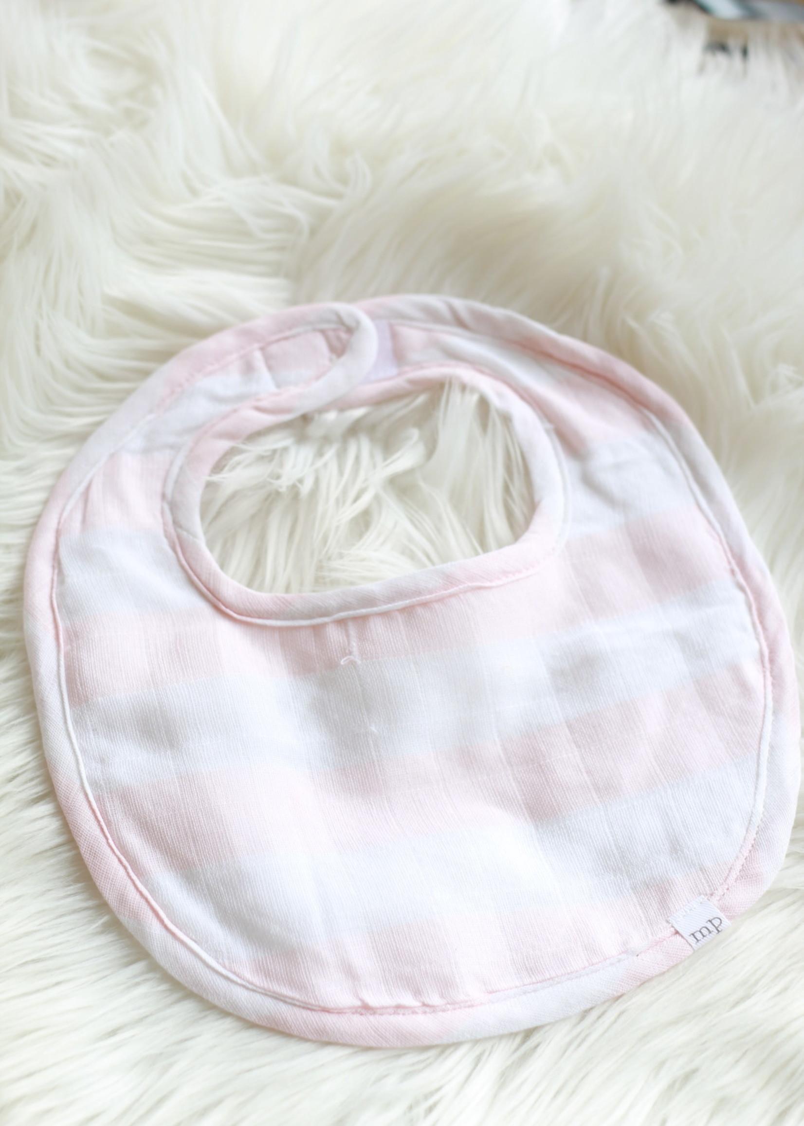 Light Pink Stripe Bib