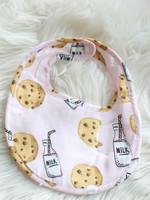 Pink Milk & Cookies Bib