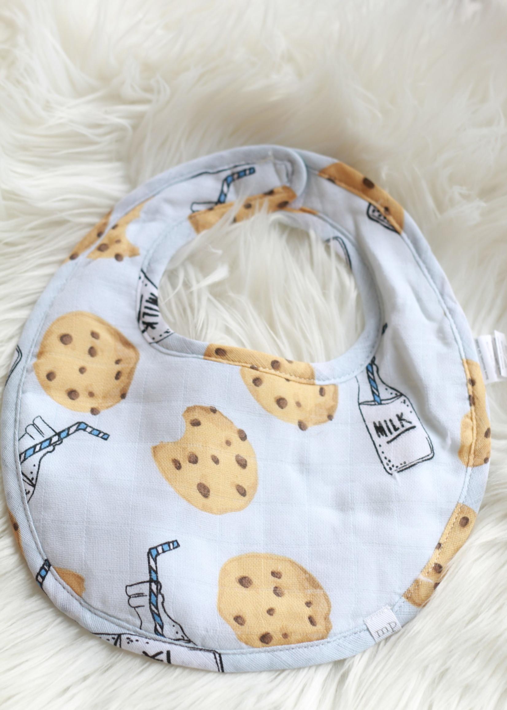 Blue Milk & Cookies Bib