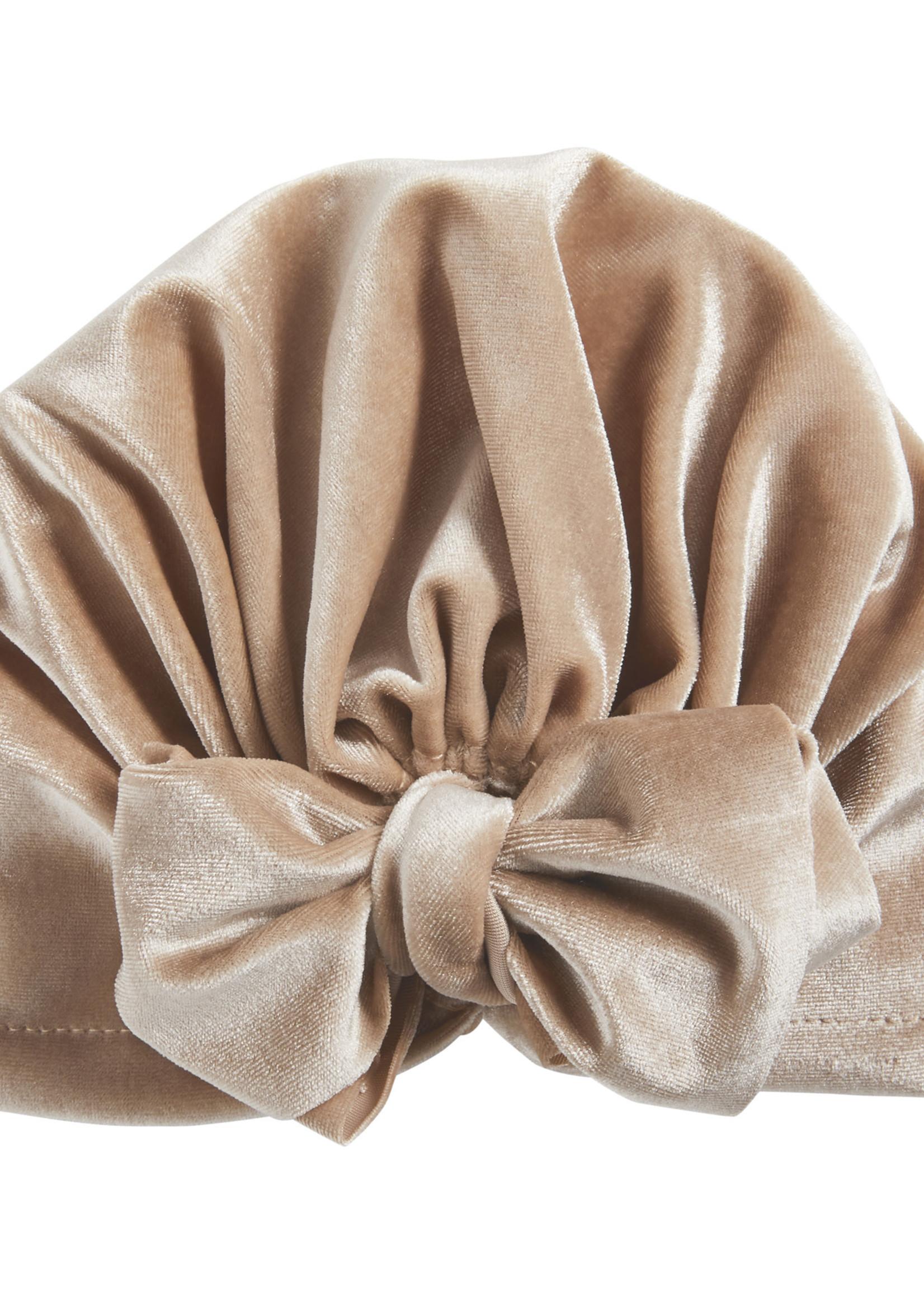 Grey Velvet Bow Hat