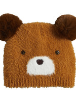 Brown Fuzzy Bear Knit Hat