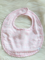 Pink and White Floral Bib