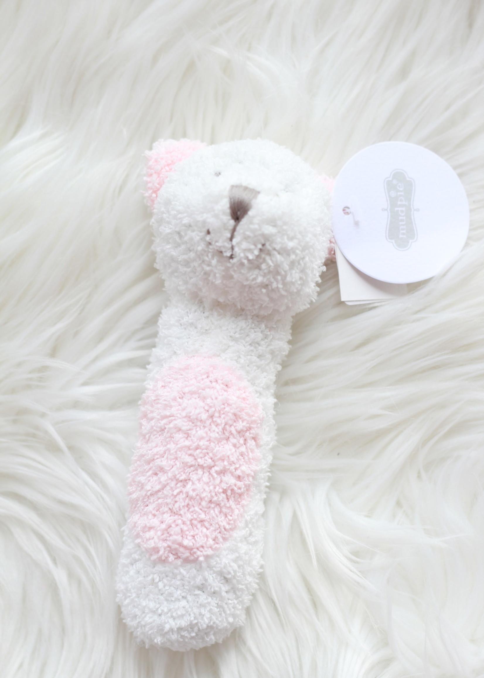 Pink Bear Stick Rattle