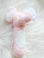Mud Pie Pink Elephant Stick Rattle