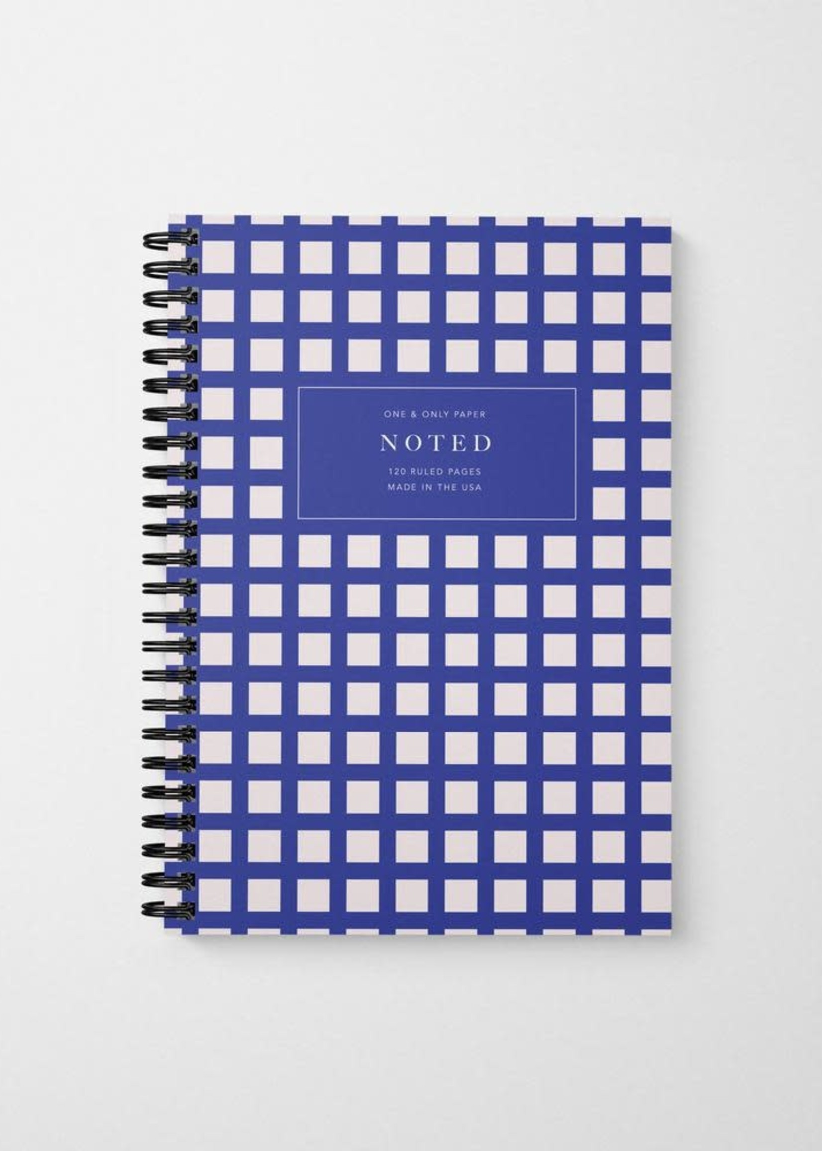 One & Only Paper Noted Checked Spiral Bound Notebook