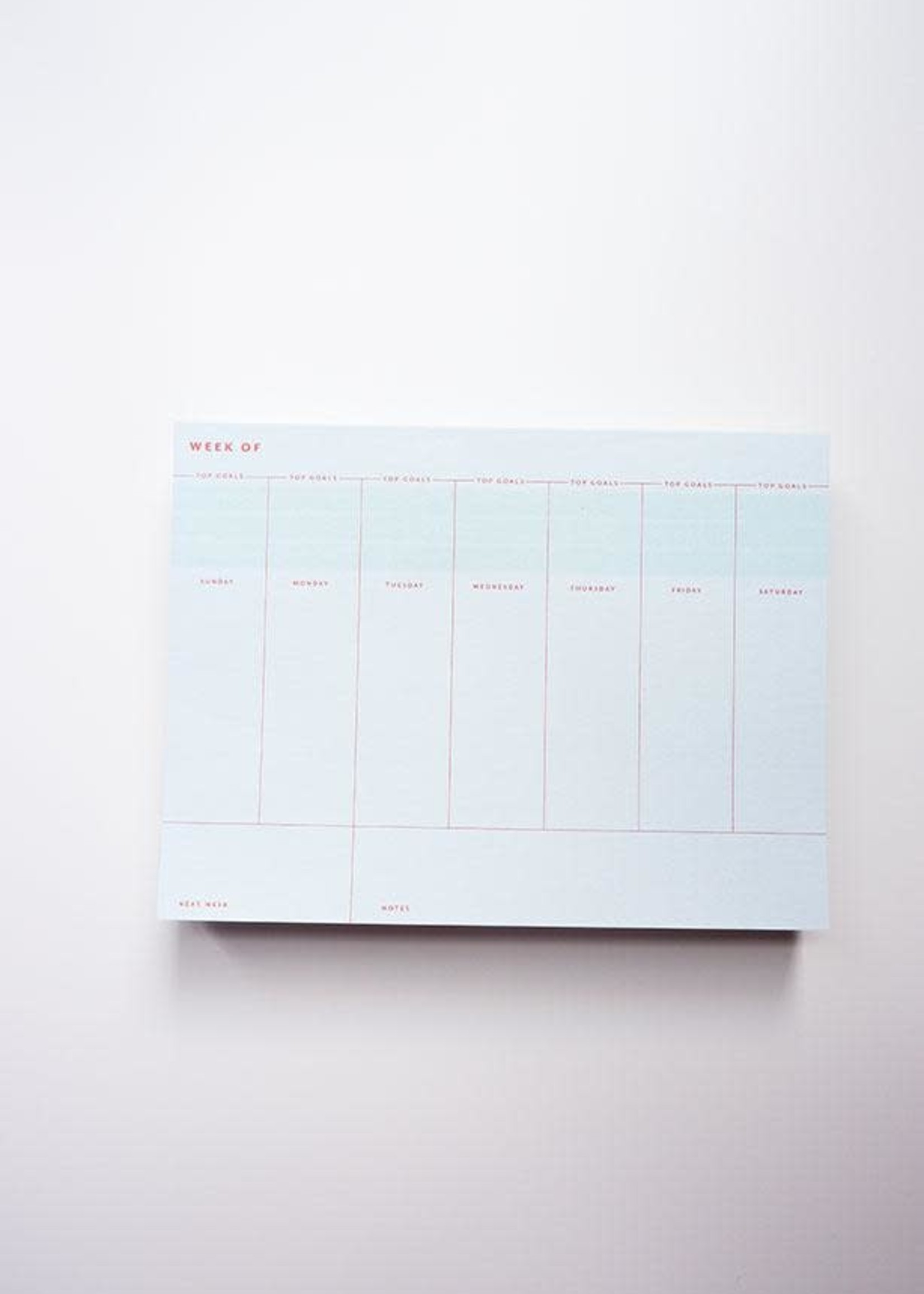 One & Only Paper Weekly Planner Notepad