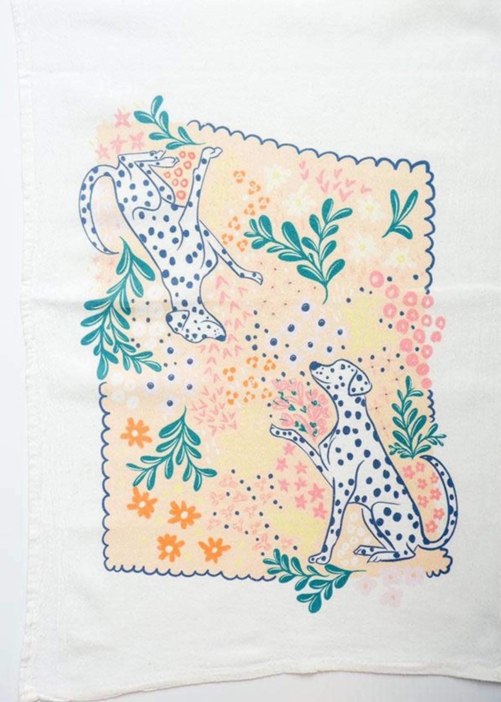 One & Only Paper Dalmatian Petite Flour Sack Tea Towel