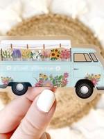 Elyse Breanne Design Clear Flower Truck Sticker