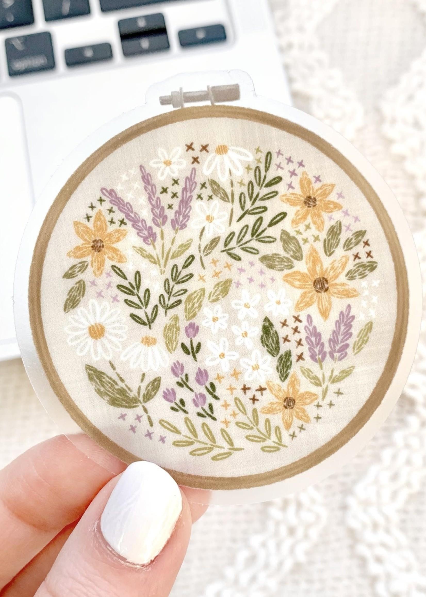 Elyse Breanne Design Embroidery Hoop Sticker