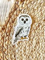 Elyse Breanne Design Owl Sticker
