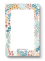 Elyse Breanne Design White Floral Notepad