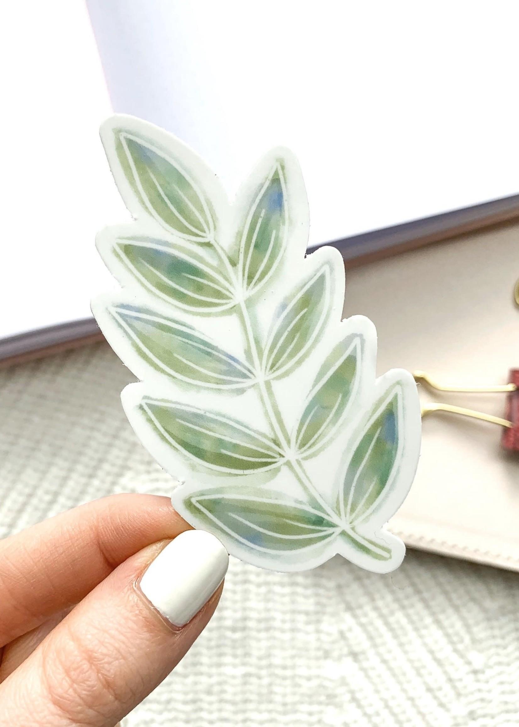 Elyse Breanne Design Watercolor Green Leaves Sticker