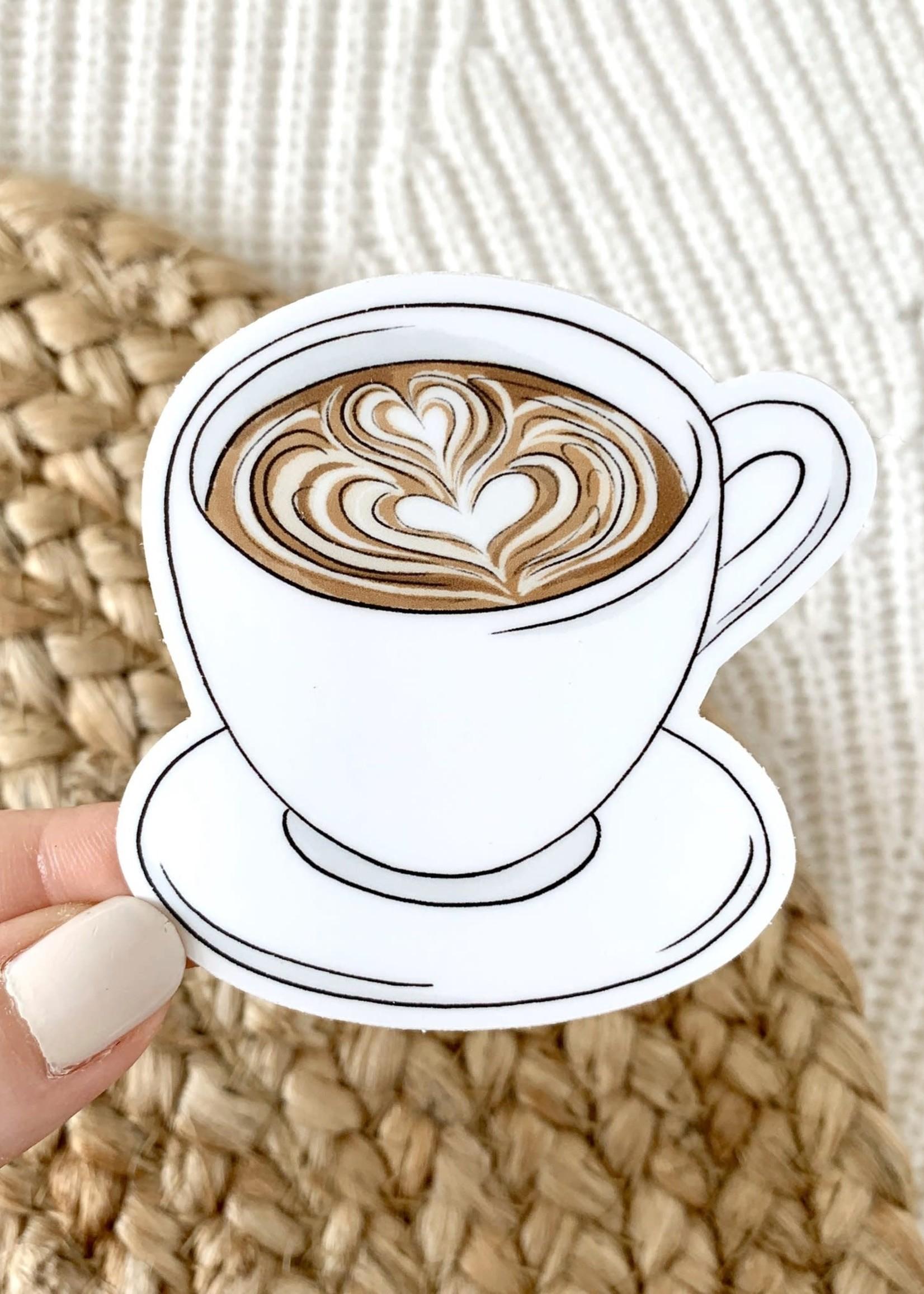 Elyse Breanne Design Latte Art Coffee Mug Sticker