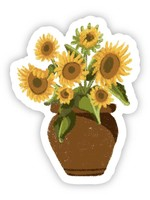Vase With Sunflowers Sticker