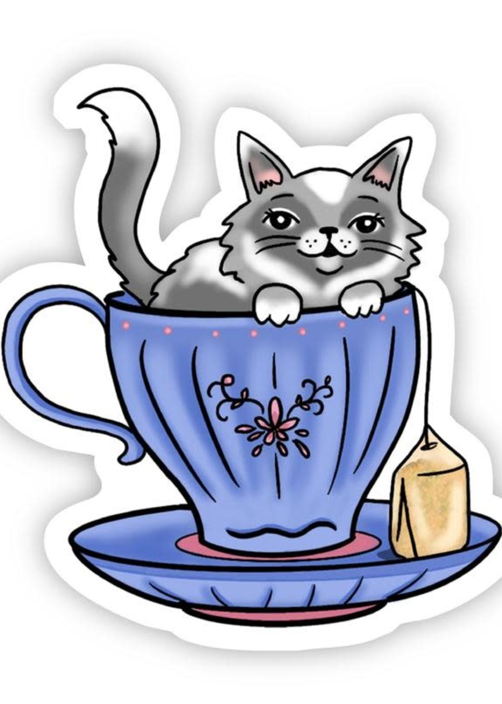 Cat Tea Sticker