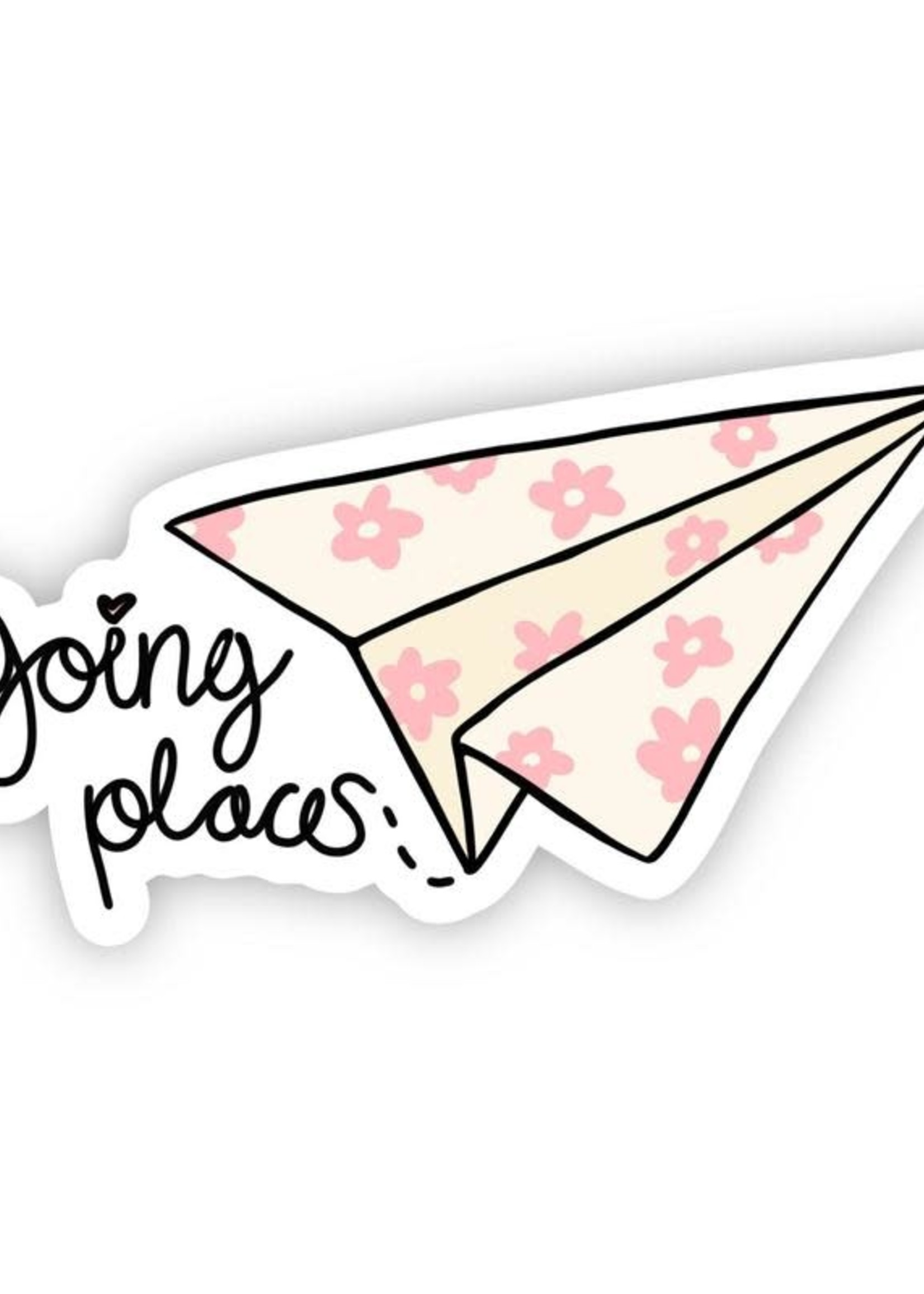 Going Places Paper Airplane Sticker