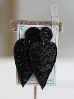 Local Squirrel Originals Black Heart Earrings