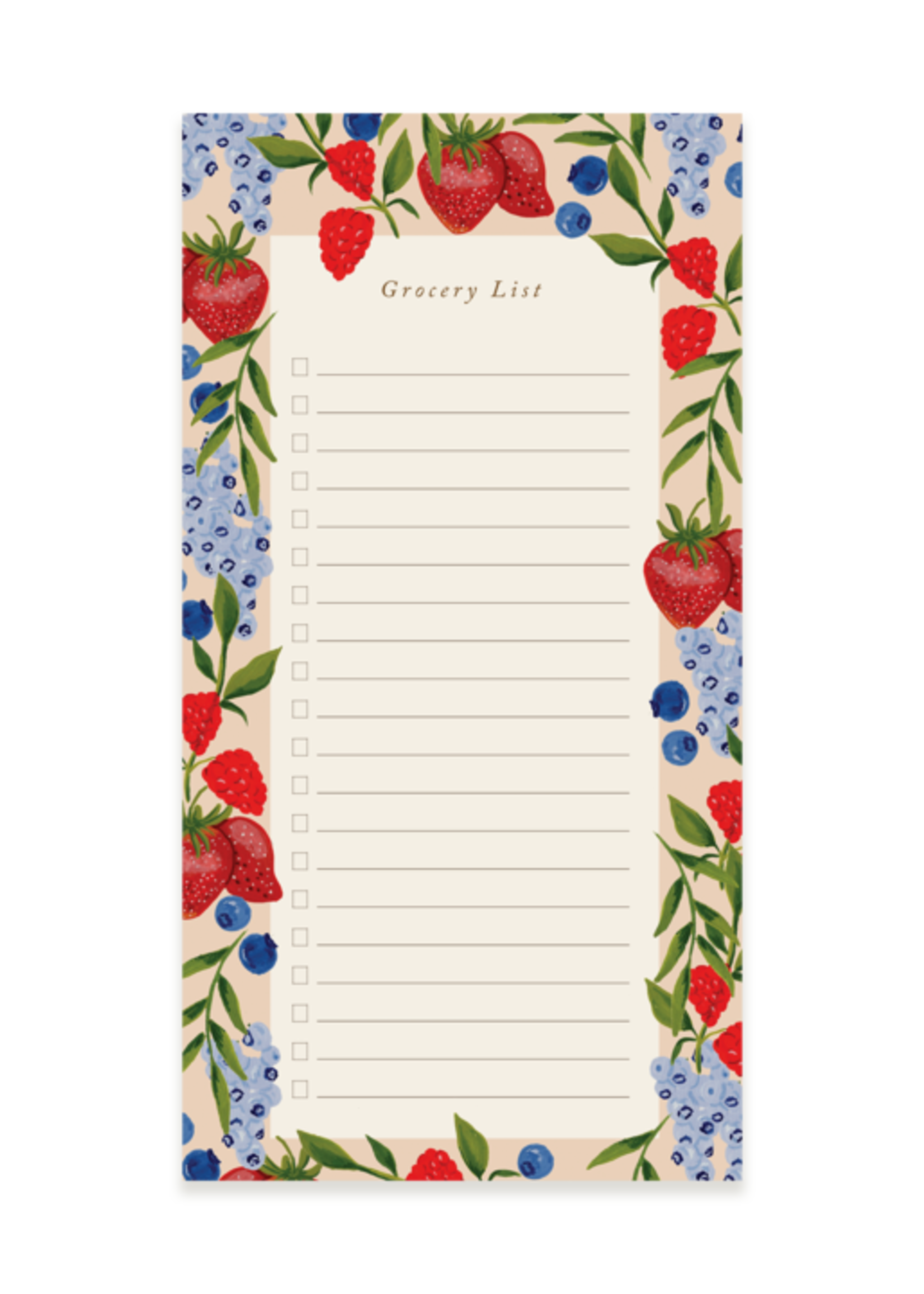 Pen + Pillar Berry Grocery Pad