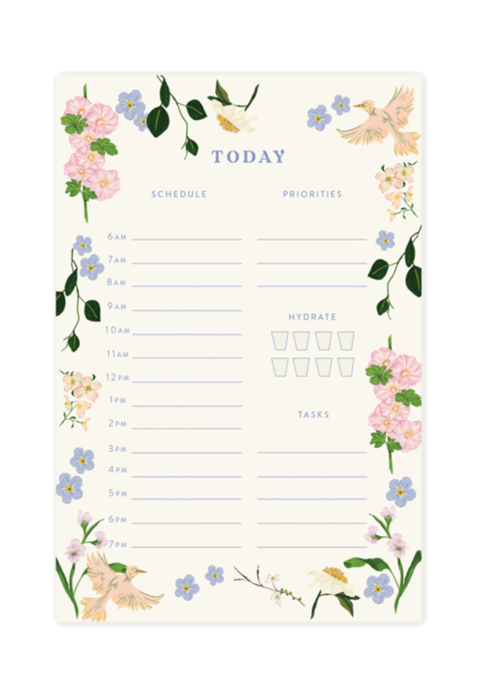 Pen + Pillar Pastel Garden Daily Notepad