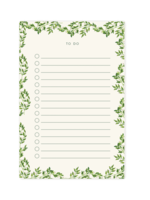 Pen + Pillar Vines To Do Notepad