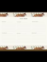 Pen + Pillar Tiger Vines Weekly Notepad