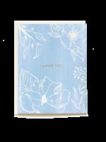 Pen + Pillar Blue Floral Thank You Card