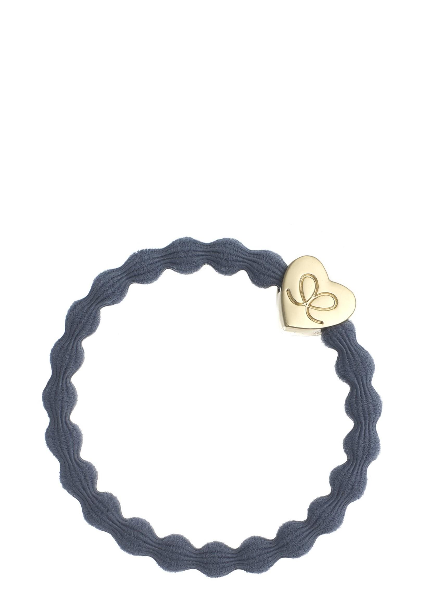 By Eloise Gold Heart Hair Tie