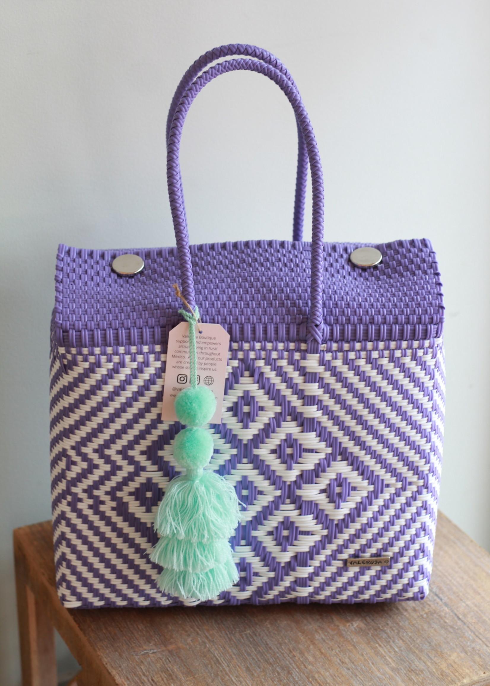 Valerosa Boutique Valerosa Purple Dia Purse With Aqua Tassel