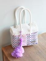 Valerosa Boutique Valerosa Shades of Lavender Little Dia Purse With Purple Tassel