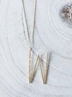 Allison Conway AC Oversized Initial Necklace 18in (M-Z)