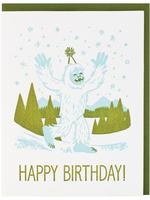 Yeti Birthday Card