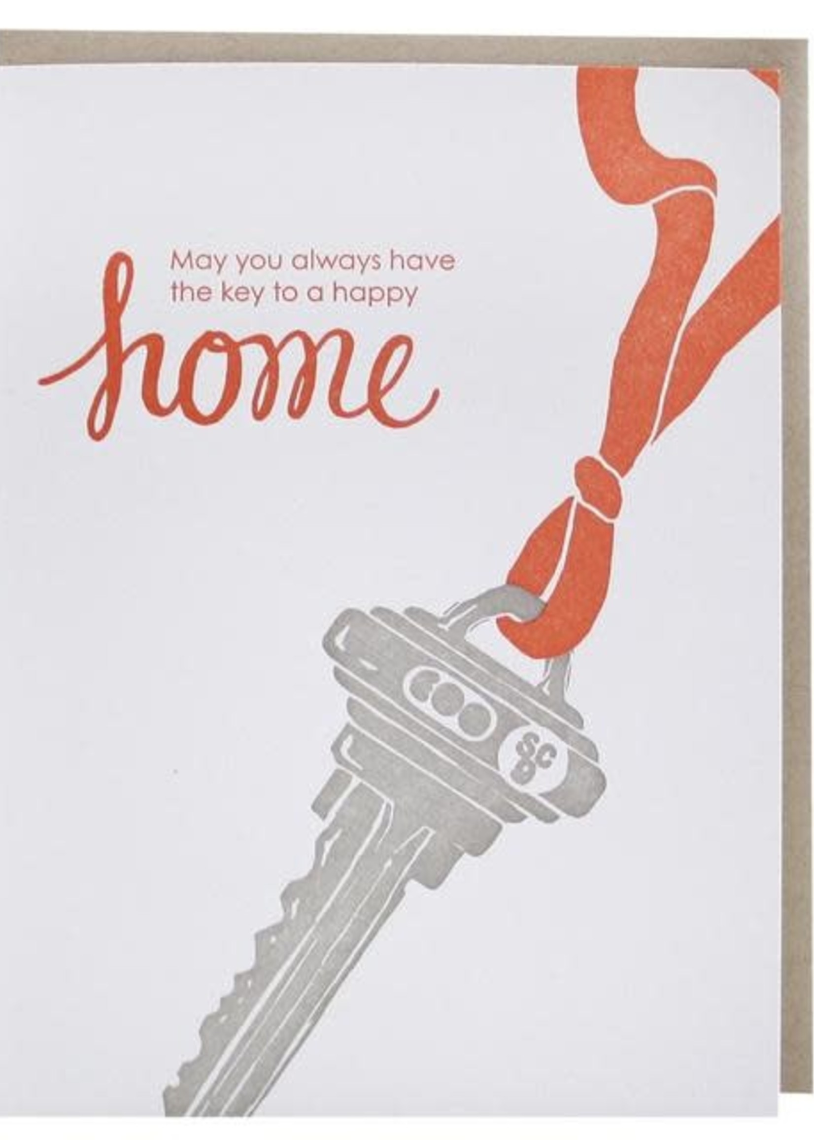 Key To New Home Congratulations  Card