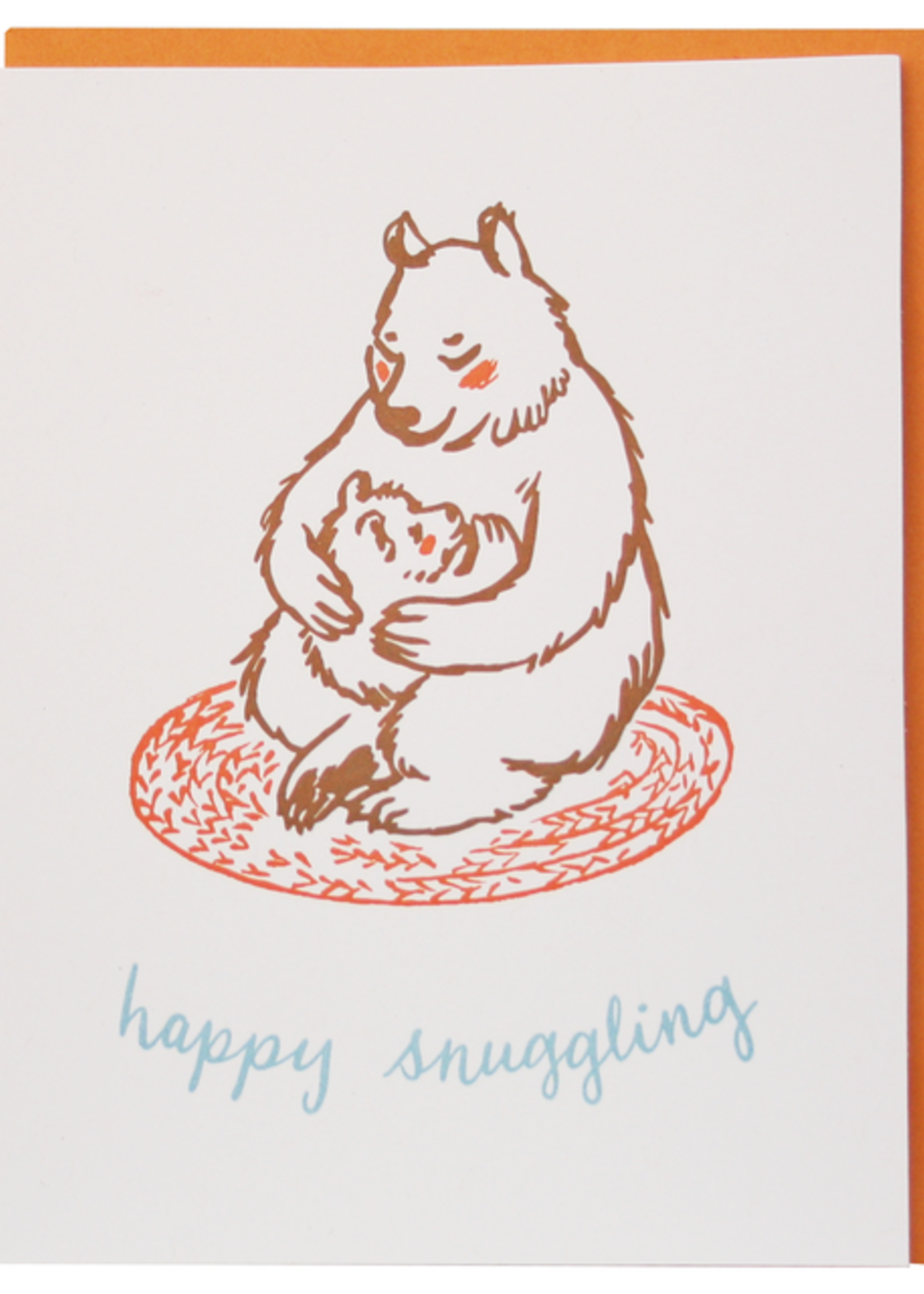 Snuggling Bears Baby Card