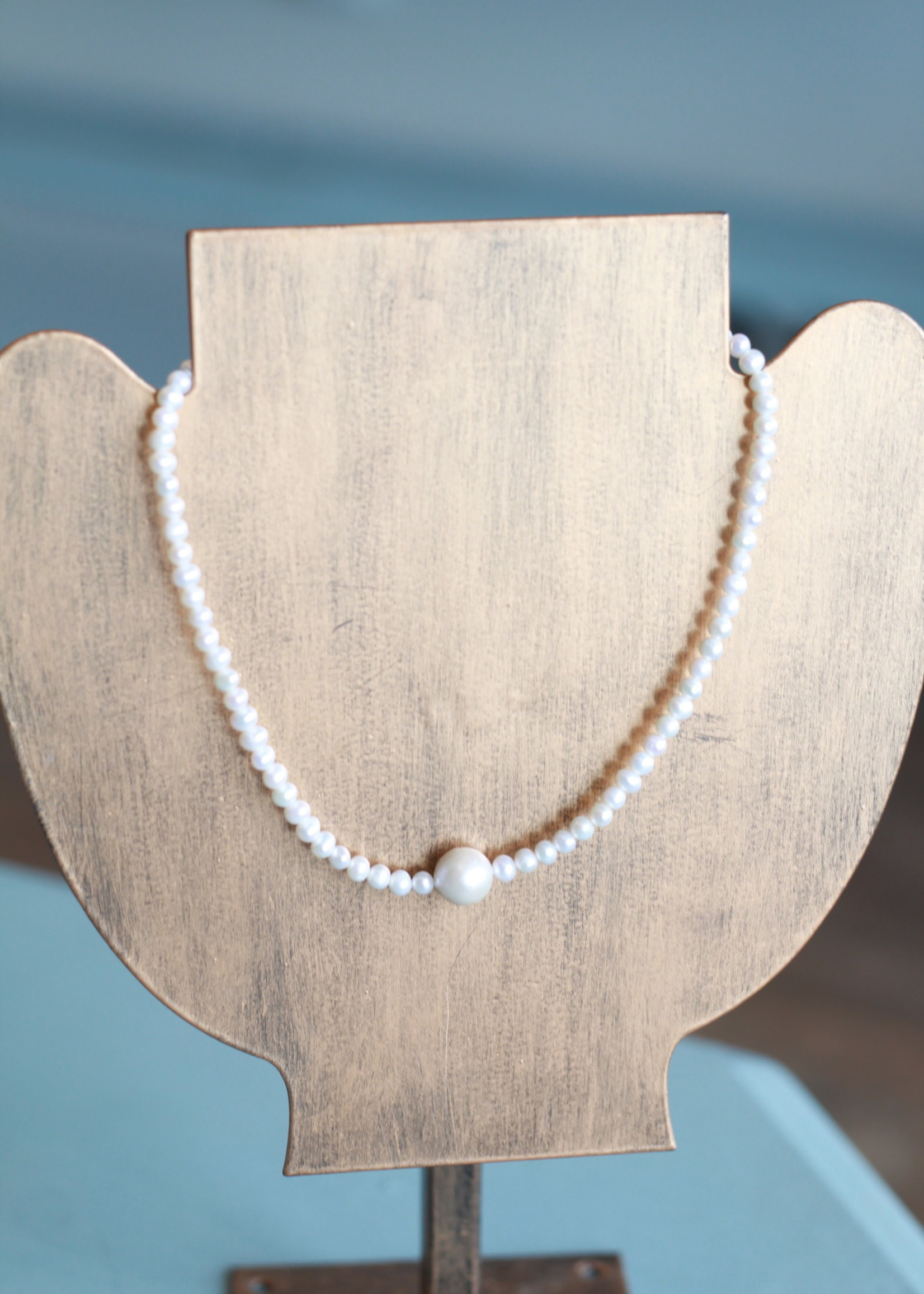LPL Creations Chloe Necklace in Pearl