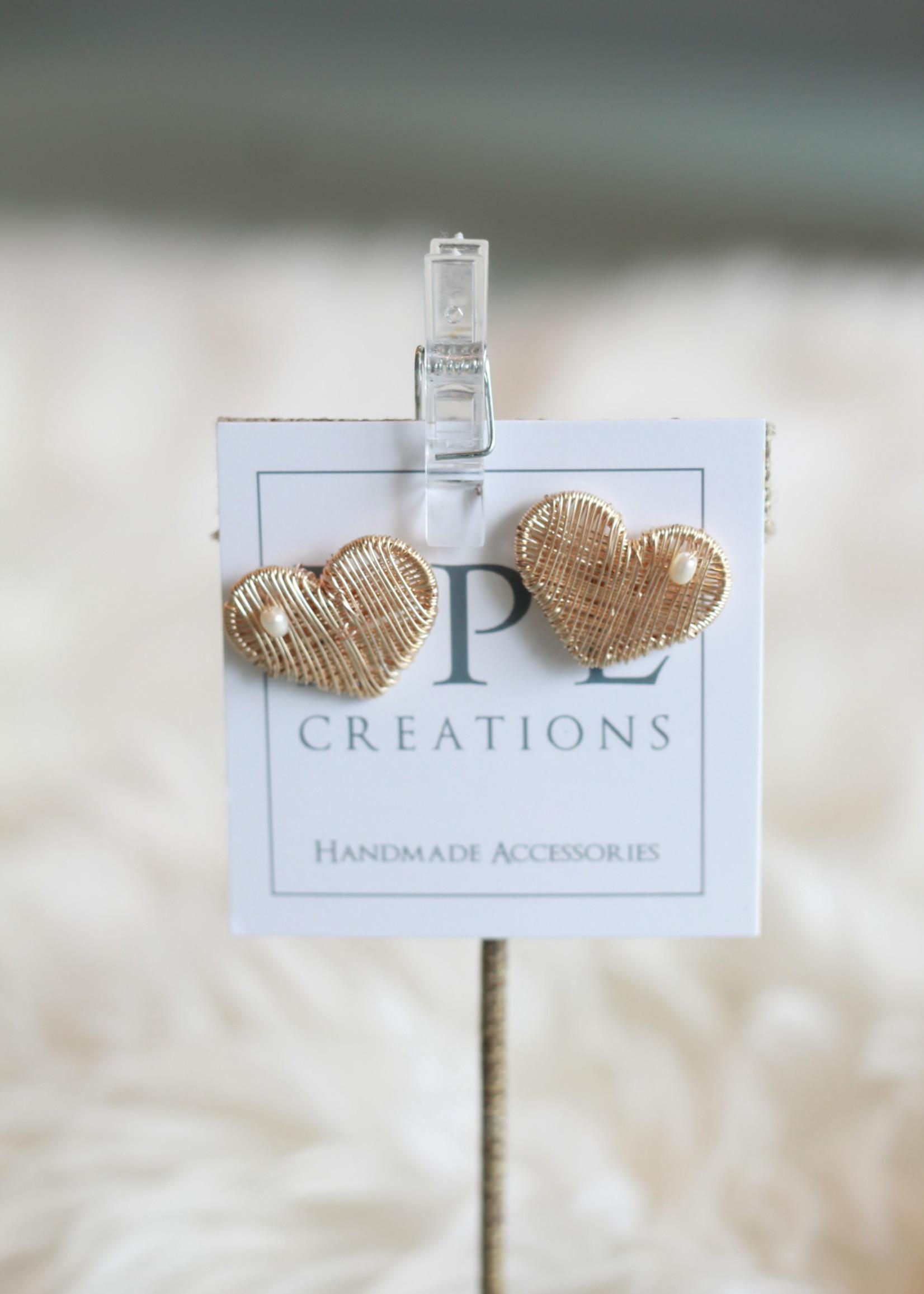 LPL Creations Kent Heart Studs