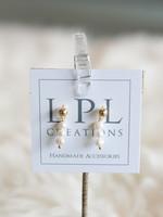 LPL Creations Three Mini Freshwater Pearl Earrings