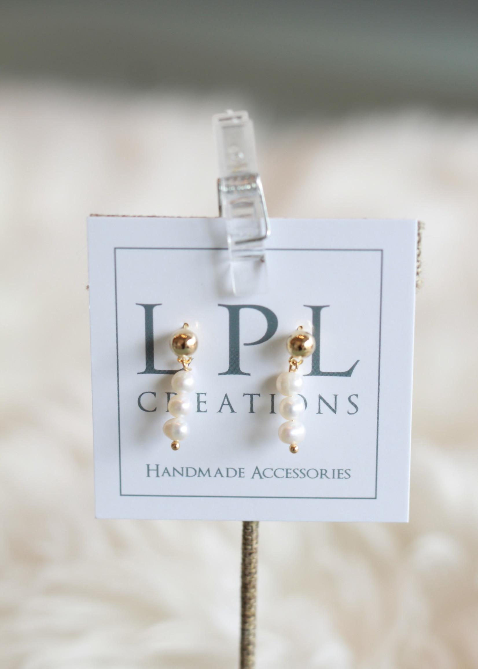 LPL Creations Sadie Mini Pearl Drop Earrings