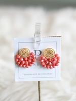LPL Creations Coral Wire Fan Earrings