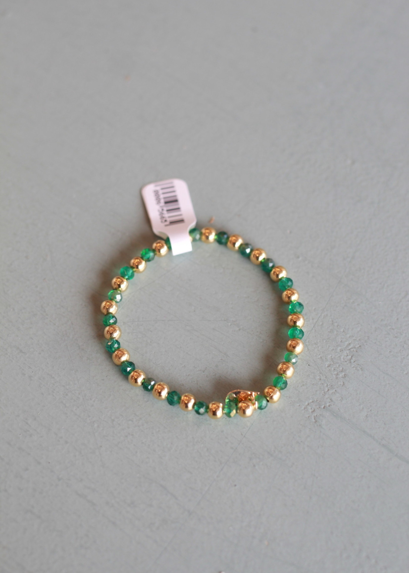 LPL Creations Jinny Bracelet in Green and Gold