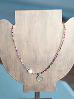 LPL Creations Multi Beaded Necklace With Pearl Accent