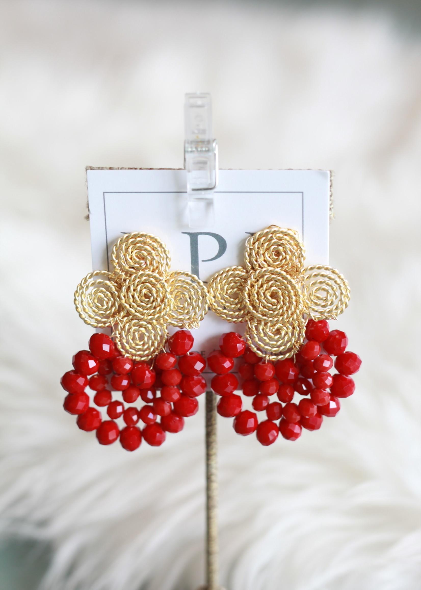 LPL Creations Evie Earrings in Red
