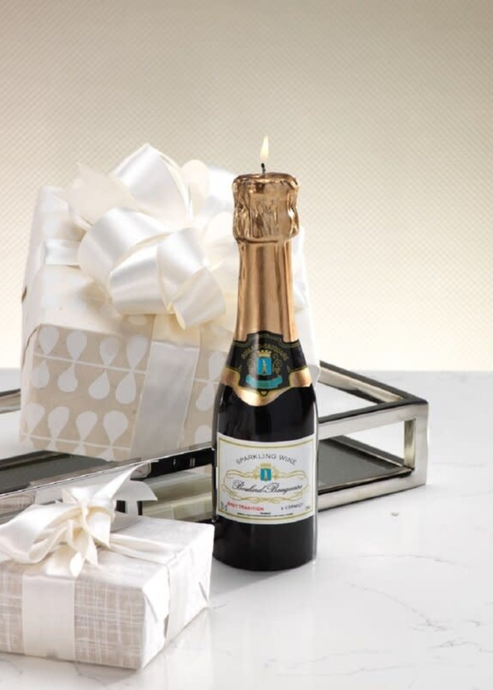 Mini Champagne Bottle Candle